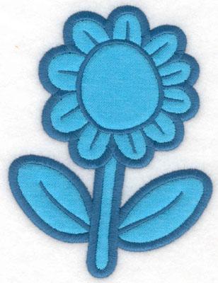 Embroidery Design: Flower applique3.74w X 5.00h