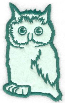 Embroidery Design: Owl applique3.20w X 5.00h