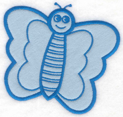 Embroidery Design: Butterfly happy face applique5.00w X 4.75h