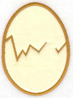 Embroidery Design: Egg applique3.65w X 5.00h