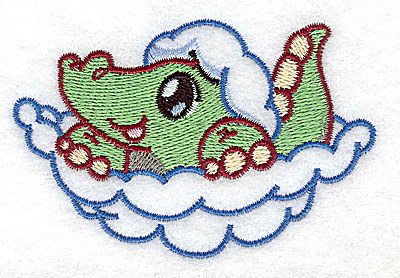 Embroidery Design: Alligator 3.42w X 2.24h