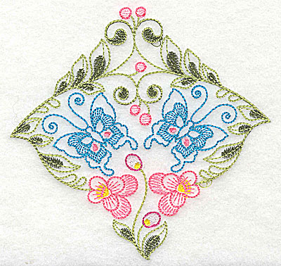 Embroidery Design: Brilliant Butterfly A medium 5.01w X 4.88h