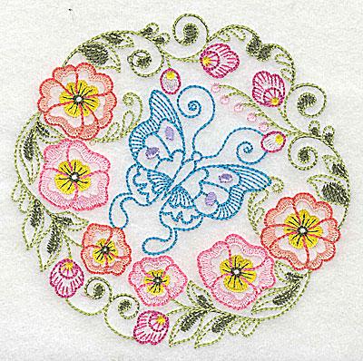 Embroidery Design: Brilliant Butterfly B medium 4.91w X 4.90h