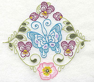 Embroidery Design: Brilliant Butterfly C medium 5.51w X 4.90h