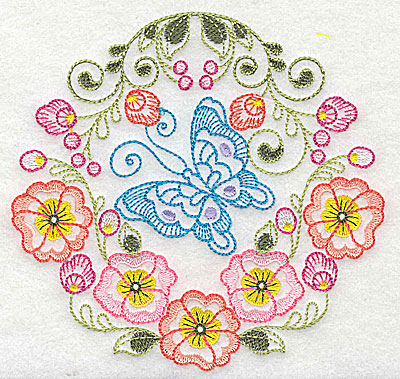 Embroidery Design: Brilliant Butterfly D medium 5.14w X 4.95h