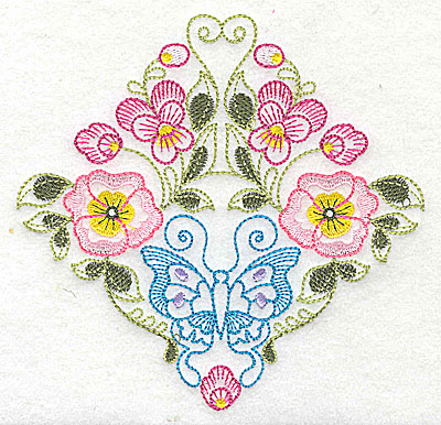 Embroidery Design: Brilliant Butterfly E medium 5.10w X 4.96h