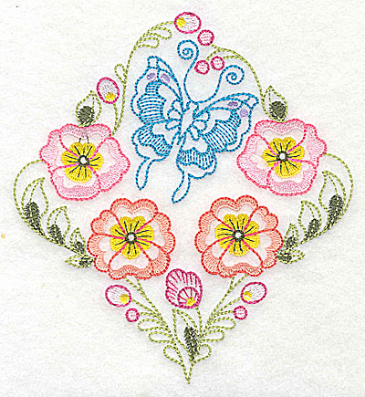 Embroidery Design: Brilliant Butterfly H medium 4.91w X 5.41h