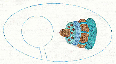 Embroidery Design: Closet divider boys Stacking Toy 5.40w X 2.91h