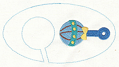 Embroidery Design: Closet divider boys Rattle 5.40w X 2.91h