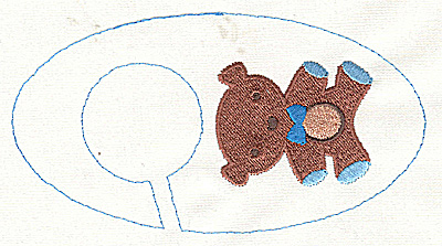 Embroidery Design: Closet divider boys Teddy Bear 5.40w X 2.91h