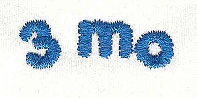 Embroidery Design: Closet divider boys 3 mo 4.53w x 0.94h