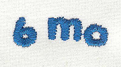 Embroidery Design: Closet divider boys 6 mo 4.54w X 0.94h