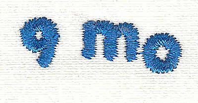 Embroidery Design: Closet divider boys 9 mo 4.53w X 0.94h