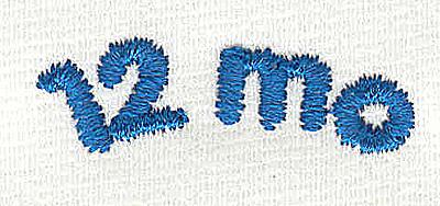 Embroidery Design: Closet divider boys 12 mo 4.56w X 1.41h