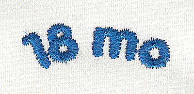 Embroidery Design: Closet divider boys 18 mo 4.56w X 1.42h