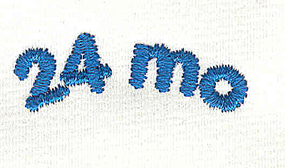 Embroidery Design: Closet divider boys 24 mo 4.57w X 1.46h
