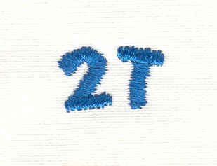 Embroidery Design: Closet divider boys 2T 4.86w X 0.75h