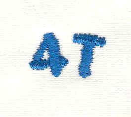 Embroidery Design: Closet divider boys 4T 4.85w X 0.77h