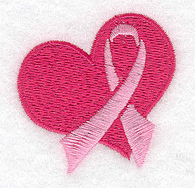 Embroidery Design: Heart with ribbon small 1.97w X 1.98h