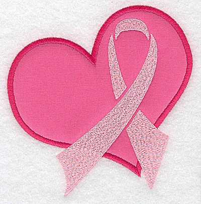 Embroidery Design: Heart with ribbon large applique 4.83w X 4.96h