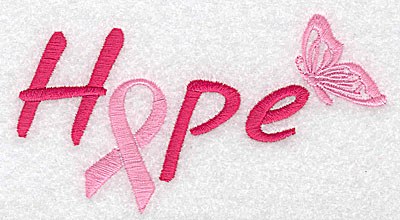 Embroidery Design: Hope with butterfly medium 4.98w X 2.77h