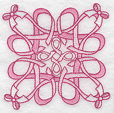 Embroidery Design: Ribbons and bows small 3.87w X 3.87h