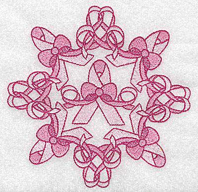 Embroidery Design: Bows and ribbons large 4.96w X 4.96h