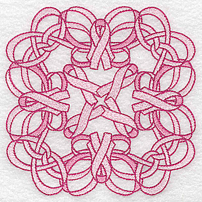 Embroidery Design: Ribbons and bows intertwined large 4.94w X 4.94h