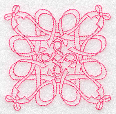 Embroidery Design: Ribbons and bows rework small 3.87w X 3.87h