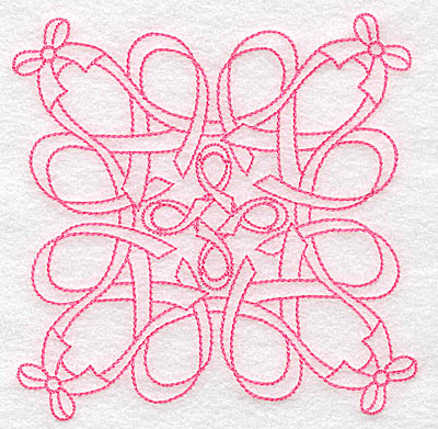 Embroidery Design: Ribbons and bows rework large 4.98w X 4.98h