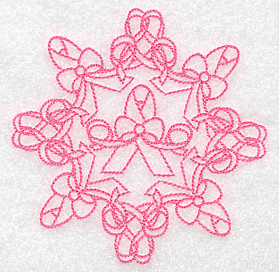Embroidery Design: Bow and ribbons rework small 3.85w X 3.85h