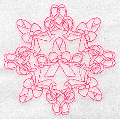 Embroidery Design: Bow and ribbons rework large 4.96w X 4.96h