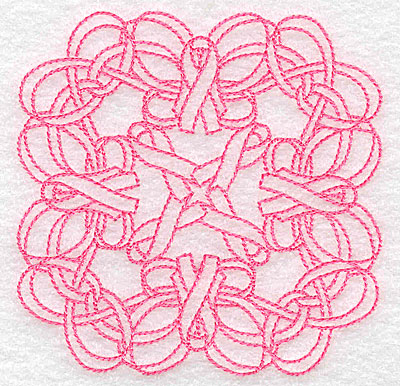 Embroidery Design: Ribbons and bows intertwined rework small 3.87w X 3.87h