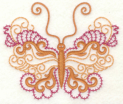 Embroidery Design: Butterfly 1 large 4.97w X 4.23h