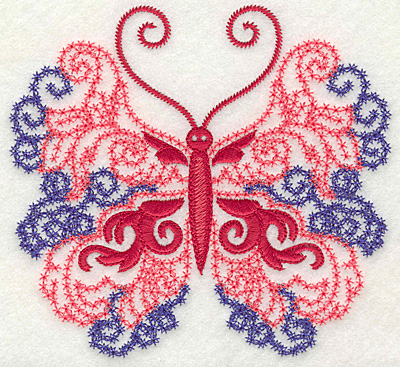 Embroidery Design: Butterfly 4 large 4.96w X 4.58h