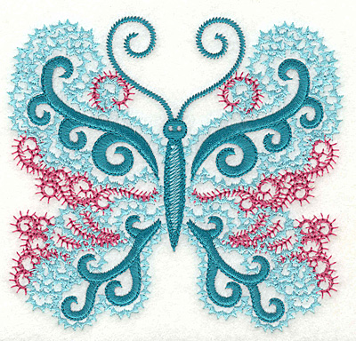 Embroidery Design: Butterfly 5 large 4.94w X 4.66h