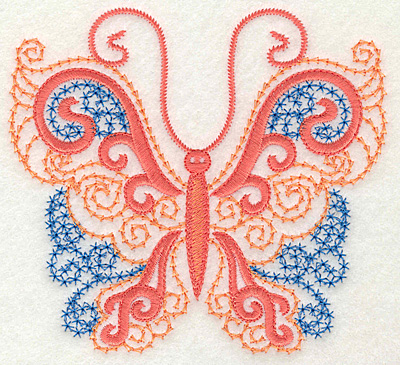 Embroidery Design: Butterfly 6 large 4.94w X 4.51h