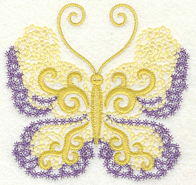 Embroidery Design: Butterfly 7 large 4.95w X 4.75h