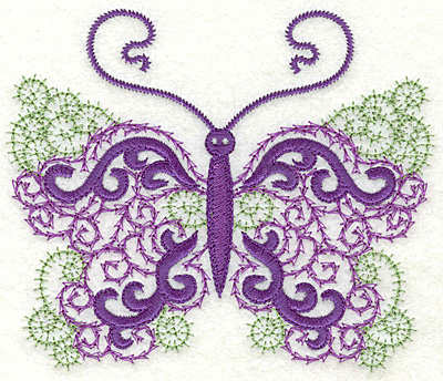 Embroidery Design: Butterfly 9 large 4.98w X 4.23h