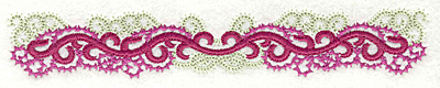 Embroidery Design: Curly swirls border 6.95w X 1.15h