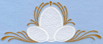 Embroidery Design: Easter eggs applique with swirls large 6.98w X 2.92h