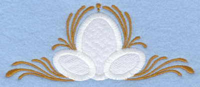 Embroidery Design: Easter eggs applique with swirls small4.89w X 2.06h