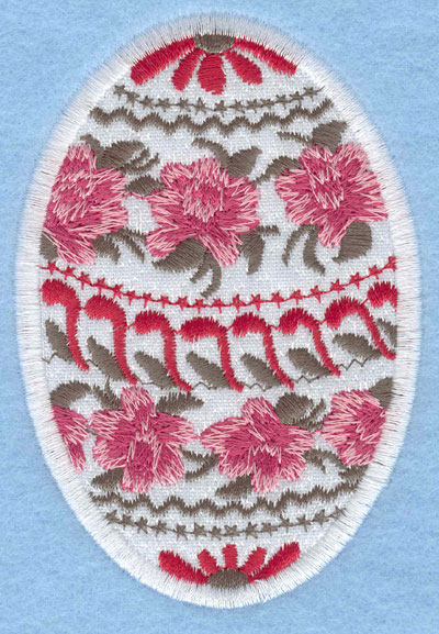 Embroidery Design: Easter egg applique large rose daisy2.66w X 3.90h