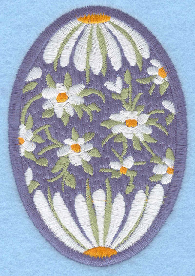 Embroidery Design: Easter egg applique large daisy2.66w X 3.90h