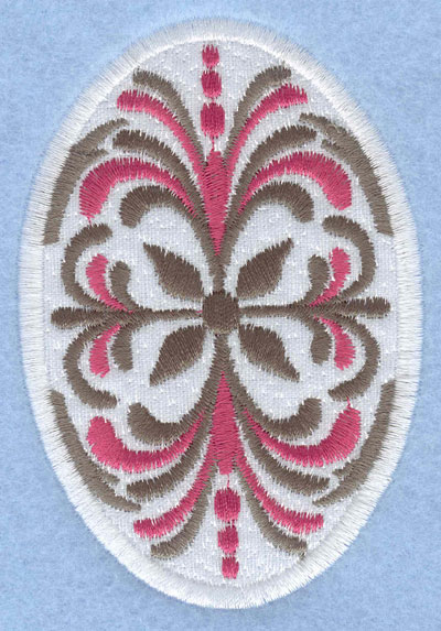 Embroidery Design: Easter egg applique large pattern2.66w X 3.90h