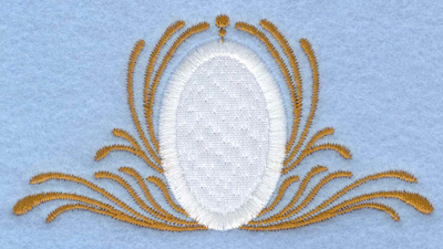 Embroidery Design: Easter egg applique with swirls small3.97w X 2.06h
