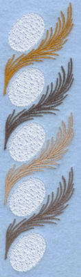 Embroidery Design: Easter egg with feather border1.87w X 7.00h