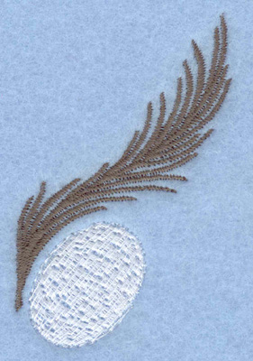 Embroidery Design: Easter egg with feather1.87w X 2.70h