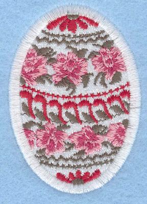 Embroidery Design: Easter egg applique medium rose daisy1.91w X 2.74h