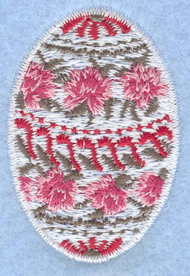 Embroidery Design: Easter egg small rose daisy1.36w X 2.01h